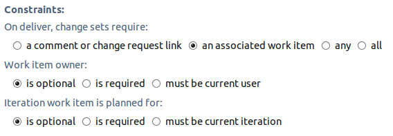 Advisor configuration