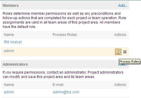 Process Roles screen capture