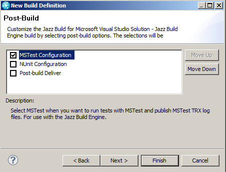 Build Definition Wizard Step 3