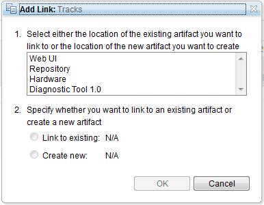 Add Tracks link