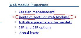 Context Root for Web Modules