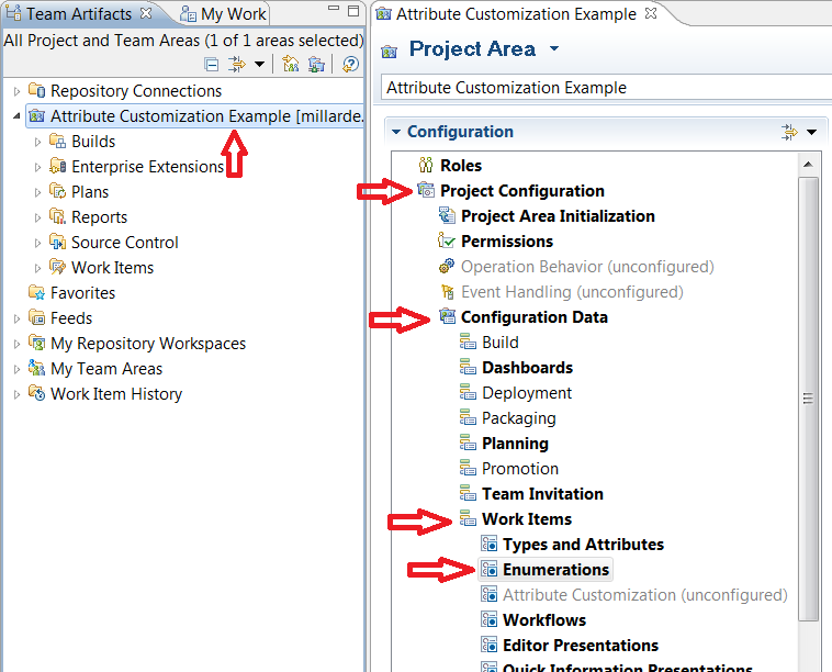 Locate and open the enumerations panel