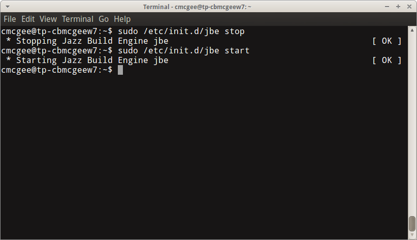 Build engine start and stop commands