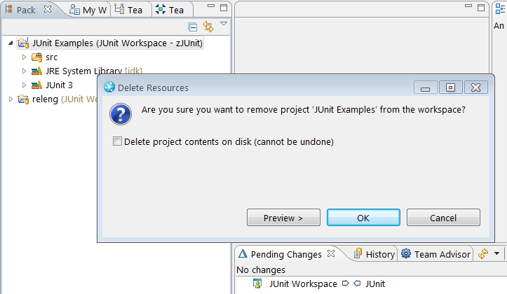 Delete projects from Eclipse