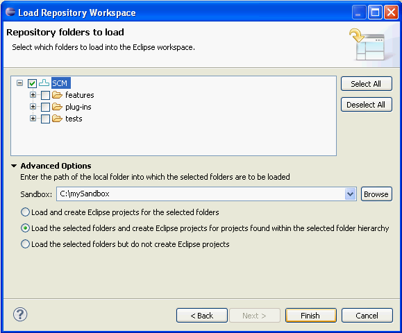 Load          Component Root Folder
