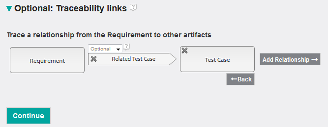 Traceability link to test                  case