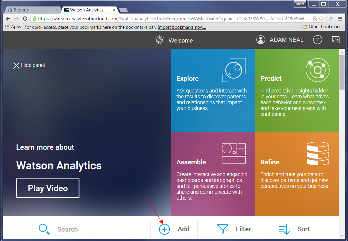 Watson Analytics - Add