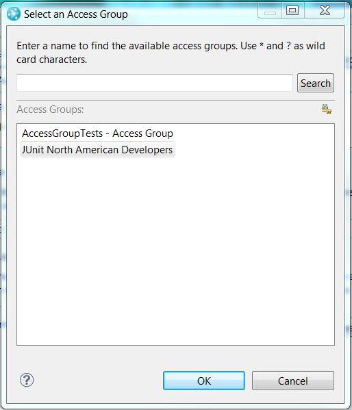 Select an Access Group