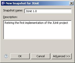 New Snapshot Dialog