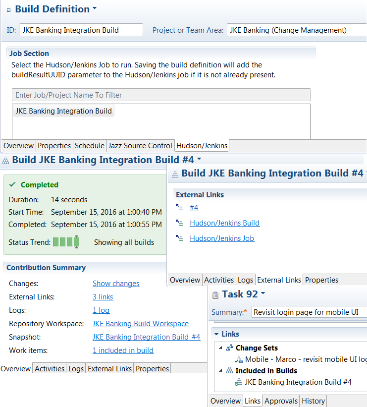 An overview of the different build configurations supported by the