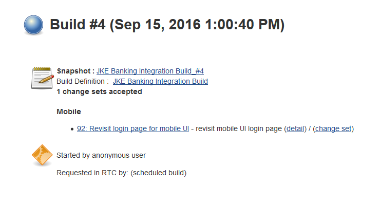 Build scheduled from RTC