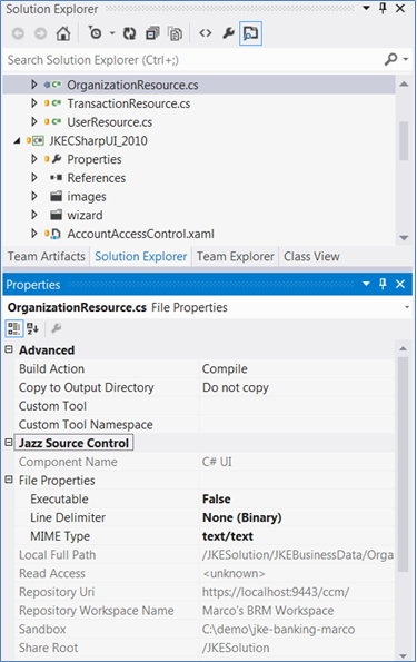 Rational Team Concert Client for Microsoft Visual Studio - Library
