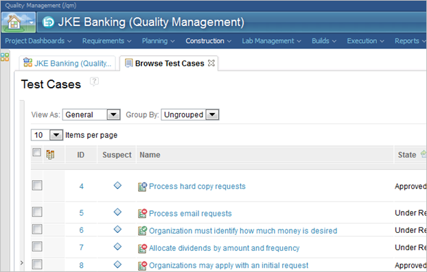 Process Awareness – Rational Quality Manager - Library