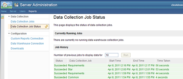 Data Collection Job Status