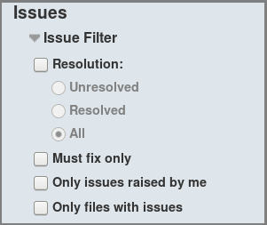 Code Review Filters