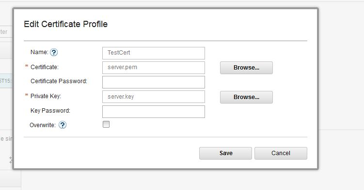Creating Certificate Profile