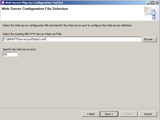 WebServer Configuration File Selection