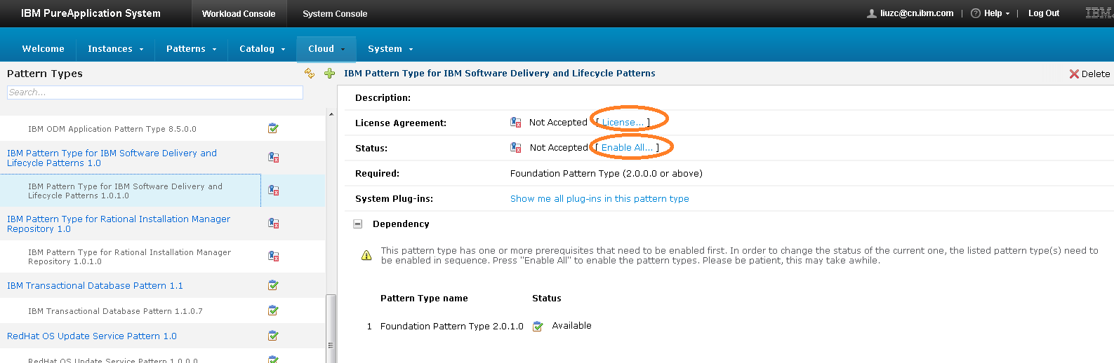 Deployingimreposharedservice101 deployment twiki ibm pattern type for software delivery lifecycle patterns after accepting license and enabling platinumwayz